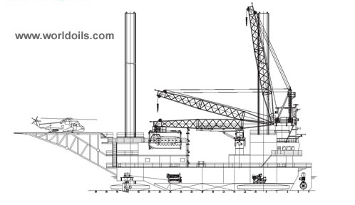 Self Propelled Jack Up Barge - 225 ft - for Sale