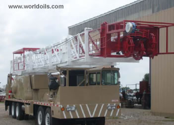 Workover Rig - Four Axle Carrier Mounted - 375 HP - for sale