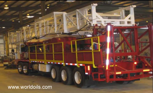 Five Axle Carrier Mounted - New Workover Rig 475 HP - For Sale