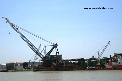 550T Clyde 52E Lattice Boom Offshore Crane for sale