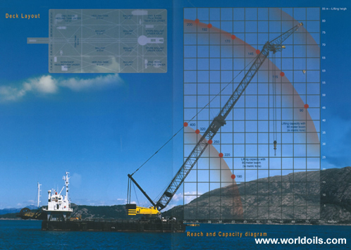 60M Floating Crane Barge for sale