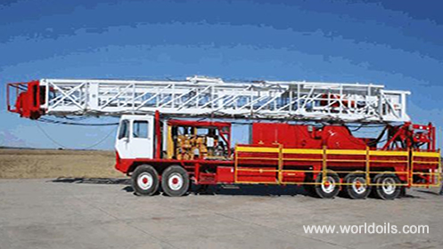 Carrier Mounted 550HP Telescopic Mast Rig For Sale