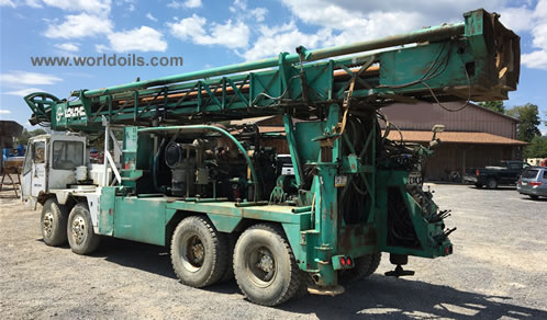 1978 Chicago Pneumatic T650SS Explorer Top Head Drive Rotary Drilling Rig