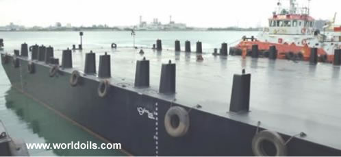 Flat Top Deck Cargo & Ballast Tank Barge for Sale