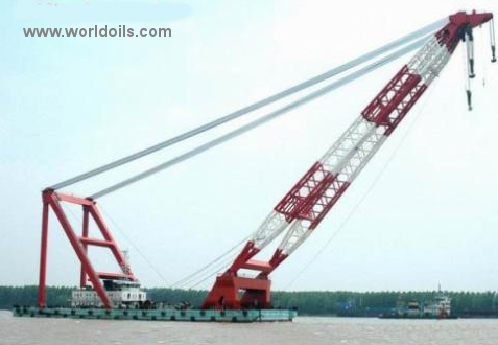 Self-Propelled Floating Crane Barge for Sale