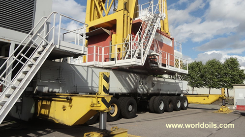 Gottwald HMK 280E Lattice Boom Crane for Sale