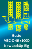 350/75FT JACKUP GUSTO MSC-C-46-X100D For Sale - Newbuilding