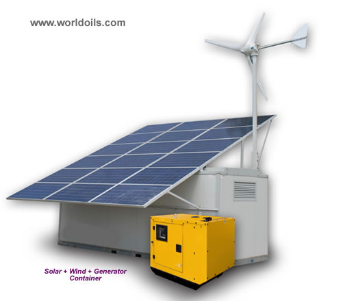 Hybrid Solar + Wind + Genset Containers for sale