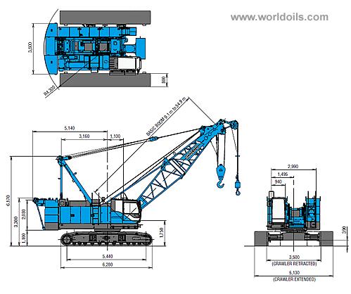 Kobelco CKS800 Crawler Crane for sale