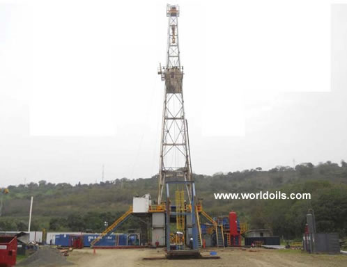 National 55 800 hp Mechanical Drilling Rig for Sale