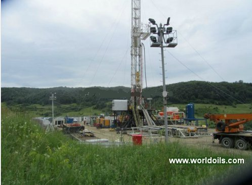 National 650 Hp Carrier Mounted Drilling Rig for Sale