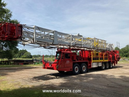 National Oilwell Model 5C Five Axle K100C Carrier Workover Rig - For Sale