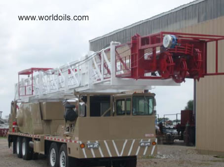 Four Axle Carrier Mounted Land Workover Rig - 375hp - for sale