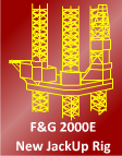 400 foot Jackup Rig For Sale -  400FT  F&G 2000E Design