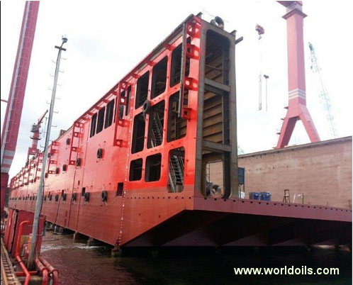New Double Hull Steel Construction Floating Dock for sale