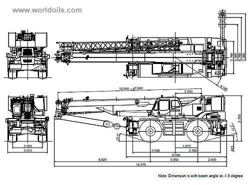 80,000kg Rough Terrain Crane For Sale