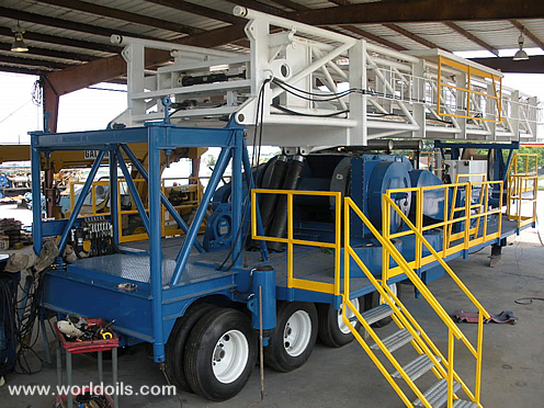 Reconditioned Skytop Brewster Model TR-800 Drilling Rig