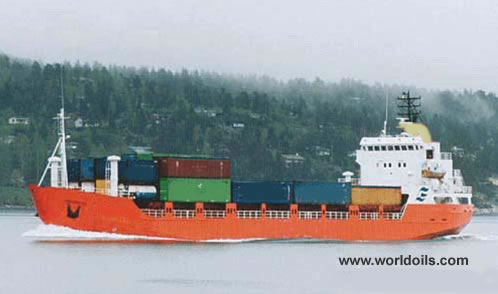 Small Coastal Container Vessel