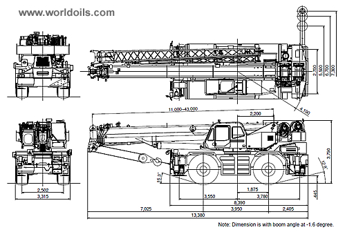 Tadano GR600EX Rough Terrain Crane for sale
