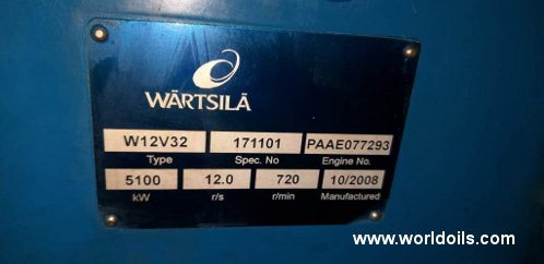 Wartsila W12V32 generator for sale