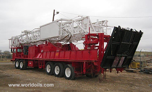 Refurbished Wilson Mogul 42B Mounted Truck Well Service Rig for Sale
