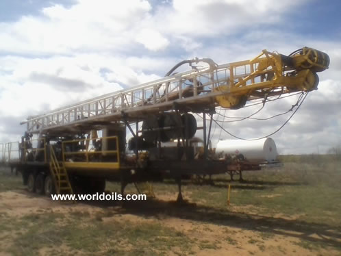 Witchtex R-4 Trailer Mounted Drilling Rig for Sale