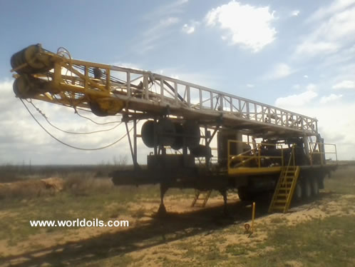 Witchtex R-4 Trailer Mounted Used Drilling Rig for Sale
