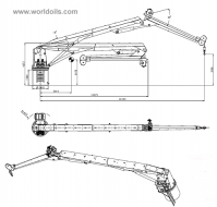 5 Ton Knuckle Boom Crane for Sale