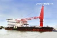 Accomodation Crane Work Barge For Sale