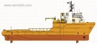 Anchor Handling Tug Supply Vessel - 1998 Built - For Sale