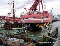 Grab Dredger with Pusher Tug for sale