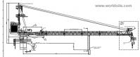 25T Lattice Boom Offshore Crane for sale