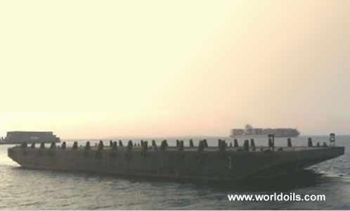 Flat Top Deck Cargo Barge - 50m - for Sale